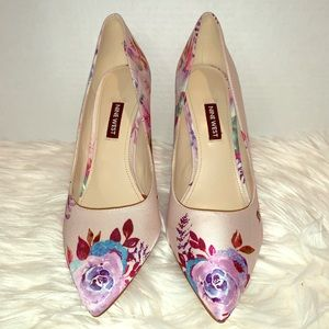 Nine West Timeout 2 Pink Multi Fabric Pumps